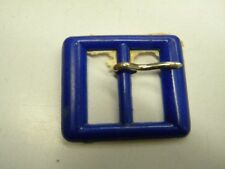 mercerie boucle ceinture confection robe  neuf bleu  4.2x3.5cm lot 209
