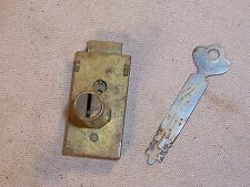 Vintage Antique Laboratory Medical School Furniture Cabinet Desk Drawer Lock