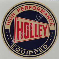 HOLLEY HIGH PERFORMANCE EQUIPPED  ---  DECAL STICKER.   Y015