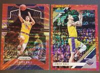 2019-20 Panini Prizm Lonzo Ball RUBY RED WAVE & INFINITE RED Donruss Holo /99
