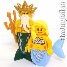 M943 Lego Neptune Ocean King Merman & Princess Mermaid Minifigures lotr NEW