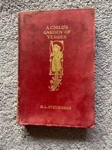 A child's garden of verses, RL Stevenson, hardback 1929