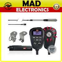 GME TX3350 UHF LCD SPEAKER MICROPHONE 80CH RADIO+GME AE4018K3 ANTENNA ULTIMATE