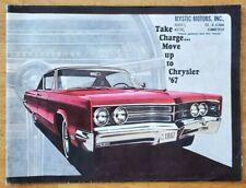 1967 Chrysler Prestige sales brochure catalog booklet pamphlet Mystic, CT