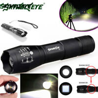 50000LM T6 Zoomable Tactical LED Flashlight Torch Lamp Super Bright Light 18650*