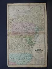 Antique Map 1839 Smith's Geography, New York, Pennsylvania, Virginia, New Jersey