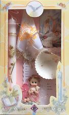 New Girls Christening Baptism Candle Box Gift Bautizo Set Shell Missal Spanish