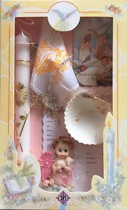New Girls Christening Baptism Candle Box Gift Set Missal Spanish Espanol Vela