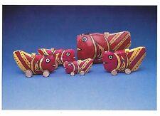 Postcard Painted Paper Fish Bamboo Frames Japan Museum of Int'l Folk Art NM MINT