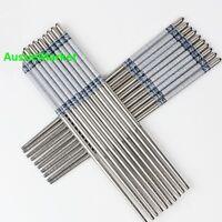 5 x pair chopsticks stainless steel kitchen utensil cutlery chinese food metal