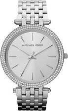 NEW MICHAEL KORS MK3190 LADIES SILVER DARCI WATCH - 2 YEARS WARRANTY