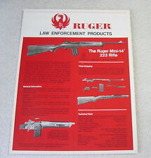 RUGER FIREARMS LAW ENFORCEMENT 1978 GUN CATALOG