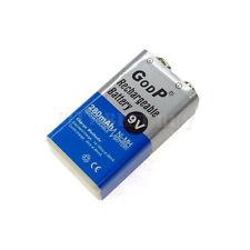 1x 9V 9 Volt 280mAH NiMH Rechargeable Battery GODP