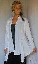 white jacket lagenlook asym jersey M L XL 1X 2X zw305