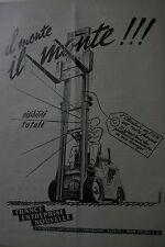 Rare Pub Elevateur FEN BOULOGNE Billancourt 1949