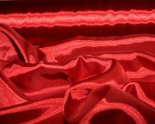 """SATIN CHARMEUSE  FABRIC RED POLYESTER 45 """" BTY BLOUSES SLIPS LINGERE SCARFS"""