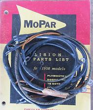 1956 56 Chrysler MOPAR 4 Way Power Seat ? Wiring Harness 1642297