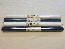 """FLORIST FILM LOT-4 ROLLS LION CLEARLACE-20""""x50' PER ROLL-2 COLORS~MOSS & WHITE"""