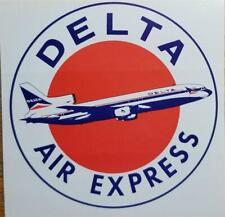 Delta Luft Express L1011 1970s Gepäck Aufkleber Vintage Unbenutzt 3 1/4 x 8.3cm