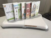 Nintendo Wii Fit Balance Board Bundle With 5 Work Out Games Tested.