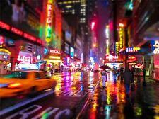 Fotografia Cityscape DOWNTOWN New York la sfocatura da movimento art print poster mp3904a