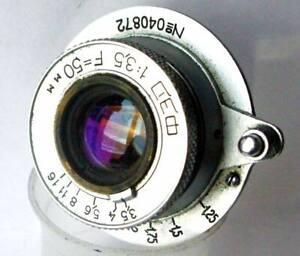 """1950th """"FED"""" 3,5/50 Metal M39 LTM Lens (ELmar Copy) +  Cap + Box!"""