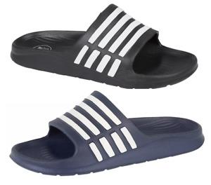 Mens Sliders Slides Summer beach Flip Flops Slide Sandals Size UK 7 8 9 10 11 12