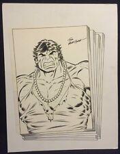 Hulk in Drag Bust - Signed art by Tom Morgan Comic Art
