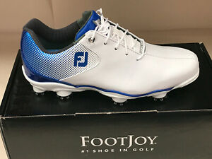 NEW FootJoy DNA 53334 White/Blue Men's Golf Shoes 8.5M WATERPROOF Were $190