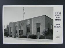 Mesa Arizona AZ United States Post Office B&W Real Photo Postcard RPPC 1930-50