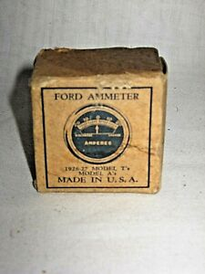 Model T and All Model A FORD Vehicles Amp/ Ammeter Gage/ Gauge NOS in Box