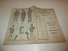 Catalogue Fabrique vêtement mode FLEURY PARIS blois vendôme joigny poitiers 1920