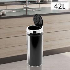 Stainless Steel Automatic Sensor Dustbin Kitchen Waste Bin Rubbish Trashcan 42L