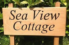 Oak 2 Post Engraved sign 800mm x 200mm House, Business, Bridleway, Site Signage