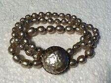 "Vintage Miriam Haskell 3 Strand ""Pearl"" Bracelet"
