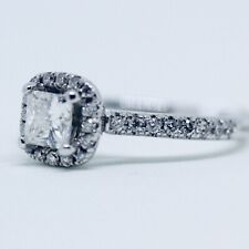 NWT $3599 For Eternity Zales Princess Vintage Diamond White Gold Engagement Ring