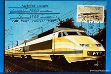Yt A 2334  LE TGV POSTAL  FRANCE  CARTE MAXIMUM 1° JOUR FCP