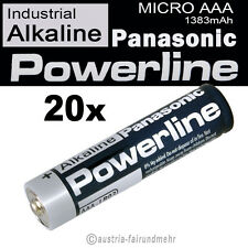 20x MICRO AAA LR03 MN2400 Batterie PANASONIC POWERLINE INDUSTRIAL