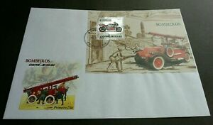 [SJ] Guinea Bissau Motorcycle 2005 Fire Fighter (FDC) *silver foil *embossed
