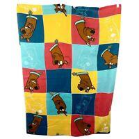 Hanna Barbera Scooby Doo Twin Size Flat sheet by Dan River Color Block Craft