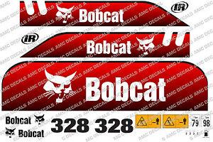 BOBCAT 328D MINI DIGGER DECAL STICKER SET