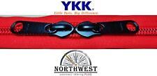 YKK Nylon Coil Zipper Tape # 10  Red 1 yard with 1 Black Zipper Slider