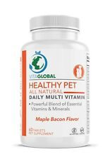 Healthy Pet Daily Multi Vitamin Maple Bacon Flavor by VITAGLOBAL 60 Tablets