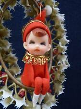 "Vintage Napco Christmas Elf Hanging Decor Bedford Ohio Made in Japan 9"" (o607)"