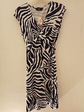 Black and White Zebra design dress - stretchy, flattering & comfortable RRP £35