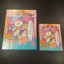 vtg POOCHI PUZZLE * Boutique * 1983 * 25 Large Piece * Golden Mattel * complete