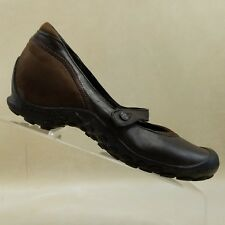 Merrell Women Mary Jane  Plaza Flaunt Brown Chestnut Leather Suede Size 8.5 #E92