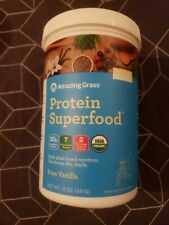 Amazing Grass Protein Superfood All In One Pure Vanilla 12Oz 11 Servings 8/28/20