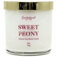 Scentsational Natural Soy Wax Blend 5oz Single Wick Small Candle - Sweet Peony