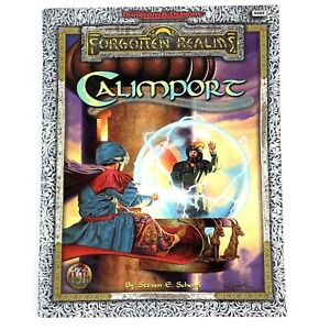 Calimport Forgotten Realms Advanced Dungeons & Dragons Book - Cover Separated